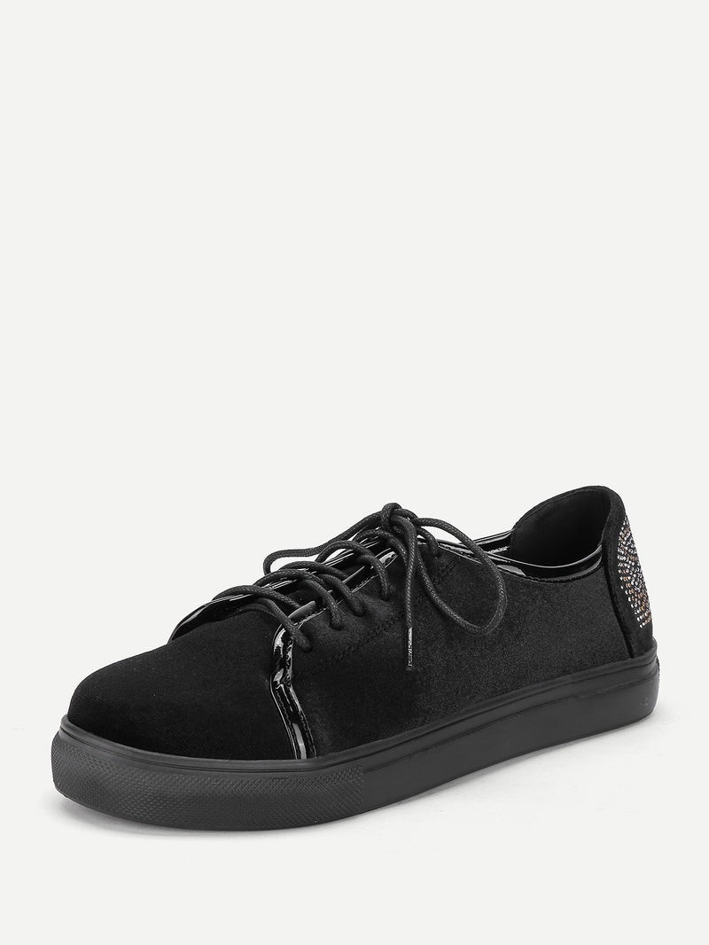 Lace Up Slip On Sneakers