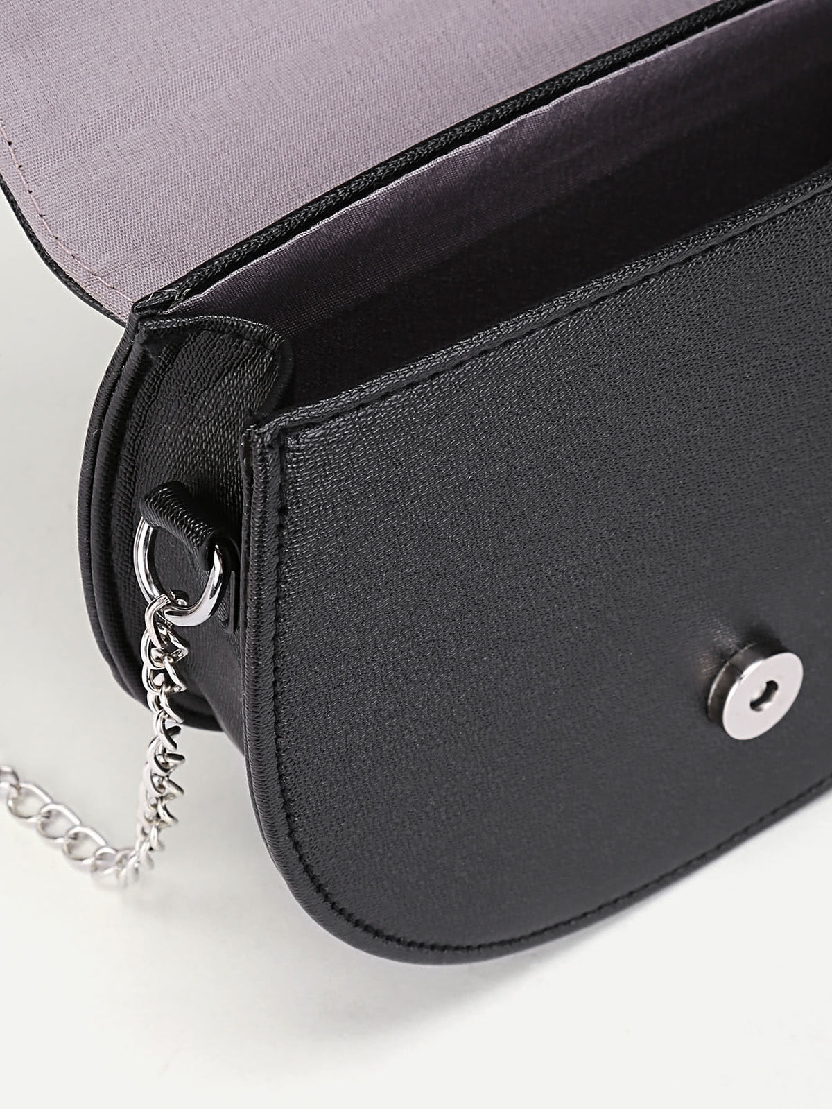Metal Detail PU Saddle Bag