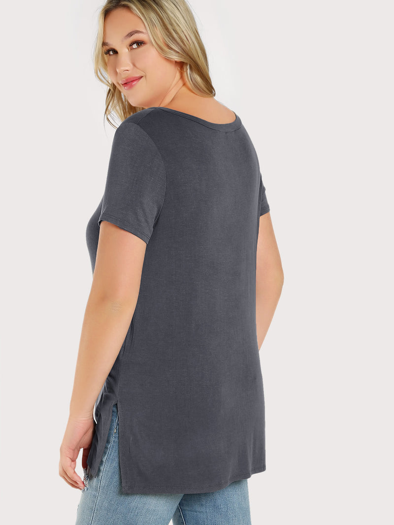 Criss Cross Front Solid Top