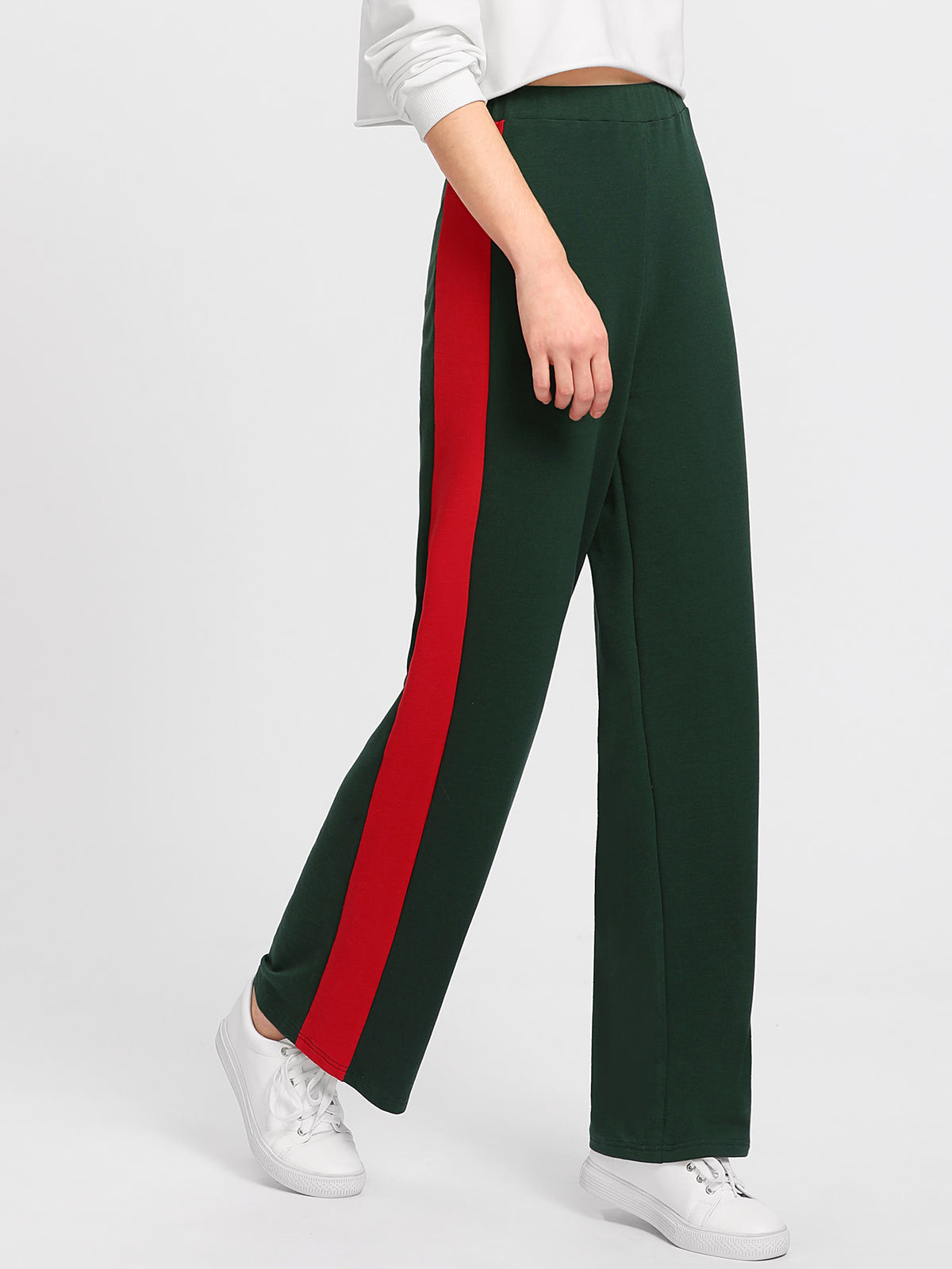 Cut And Sew Panel Side Pants