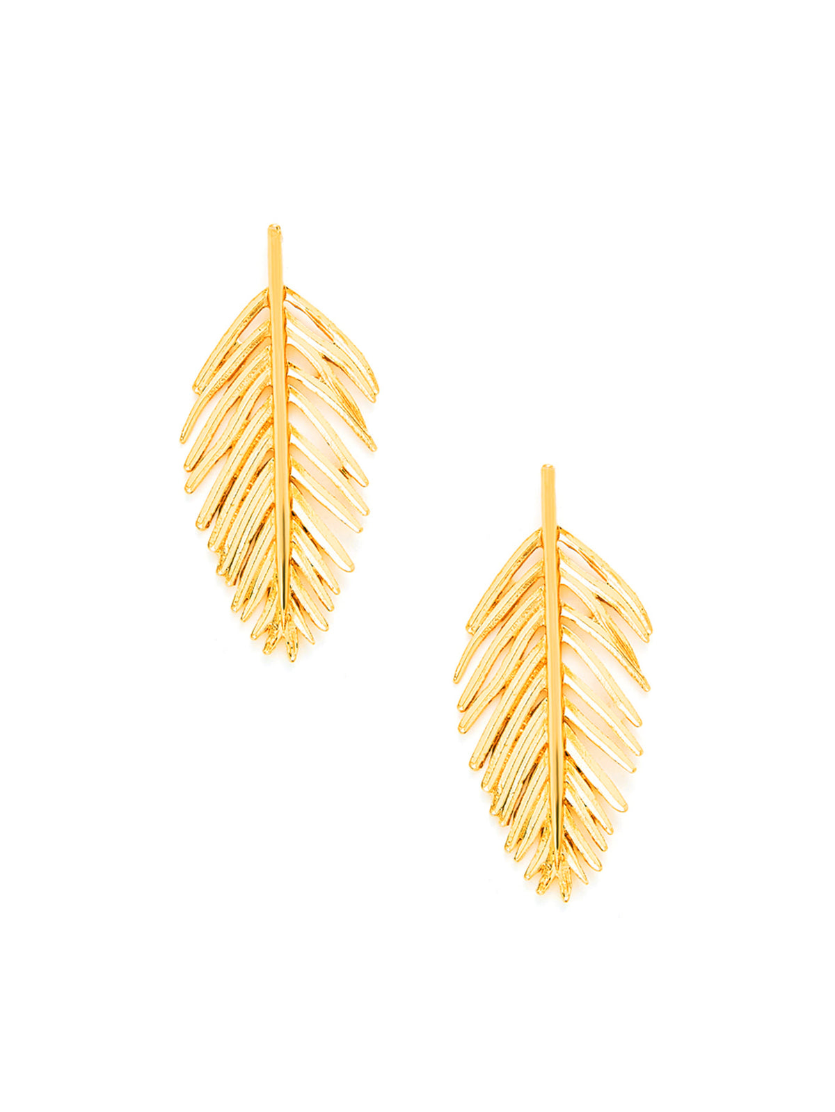 Leaf Design Stud Earrings