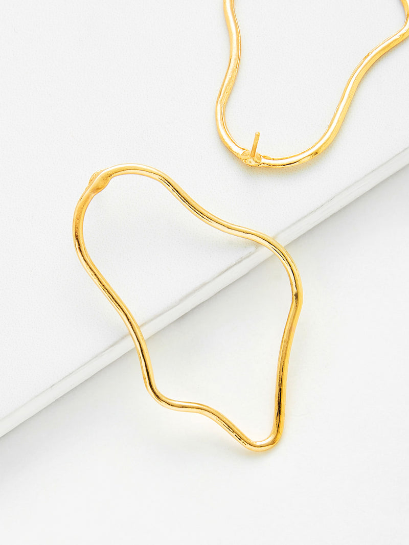 Irregular Shaped Drop Earrings