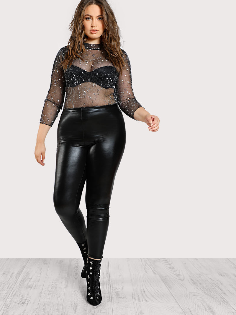 Faux Leather Skinny Leggings