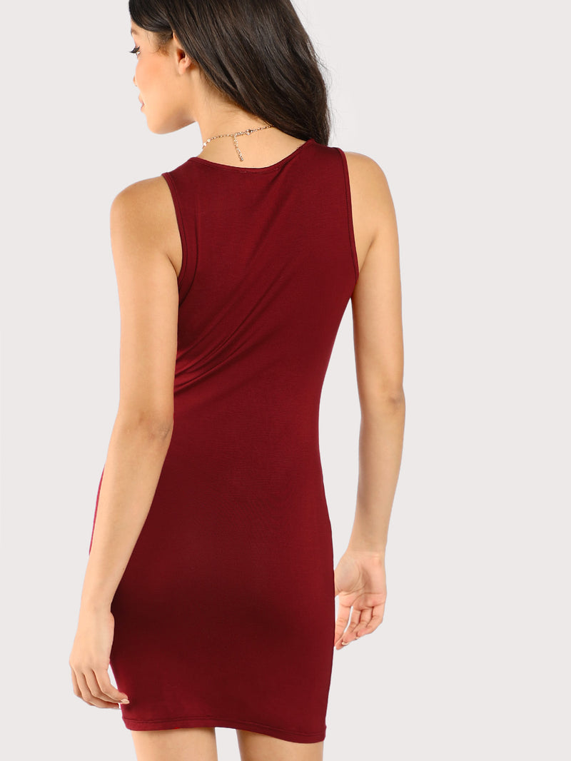 Caged Neck Bodycon Dress