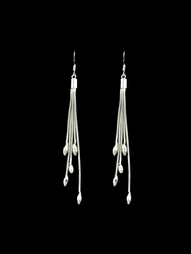 Multi Layers Long Tassel Dangle Earrings