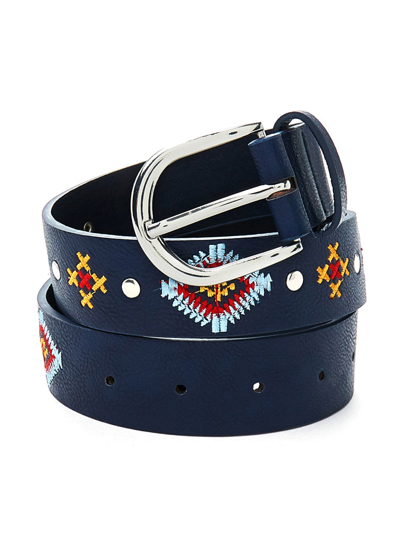 Embroidered Detail Belt