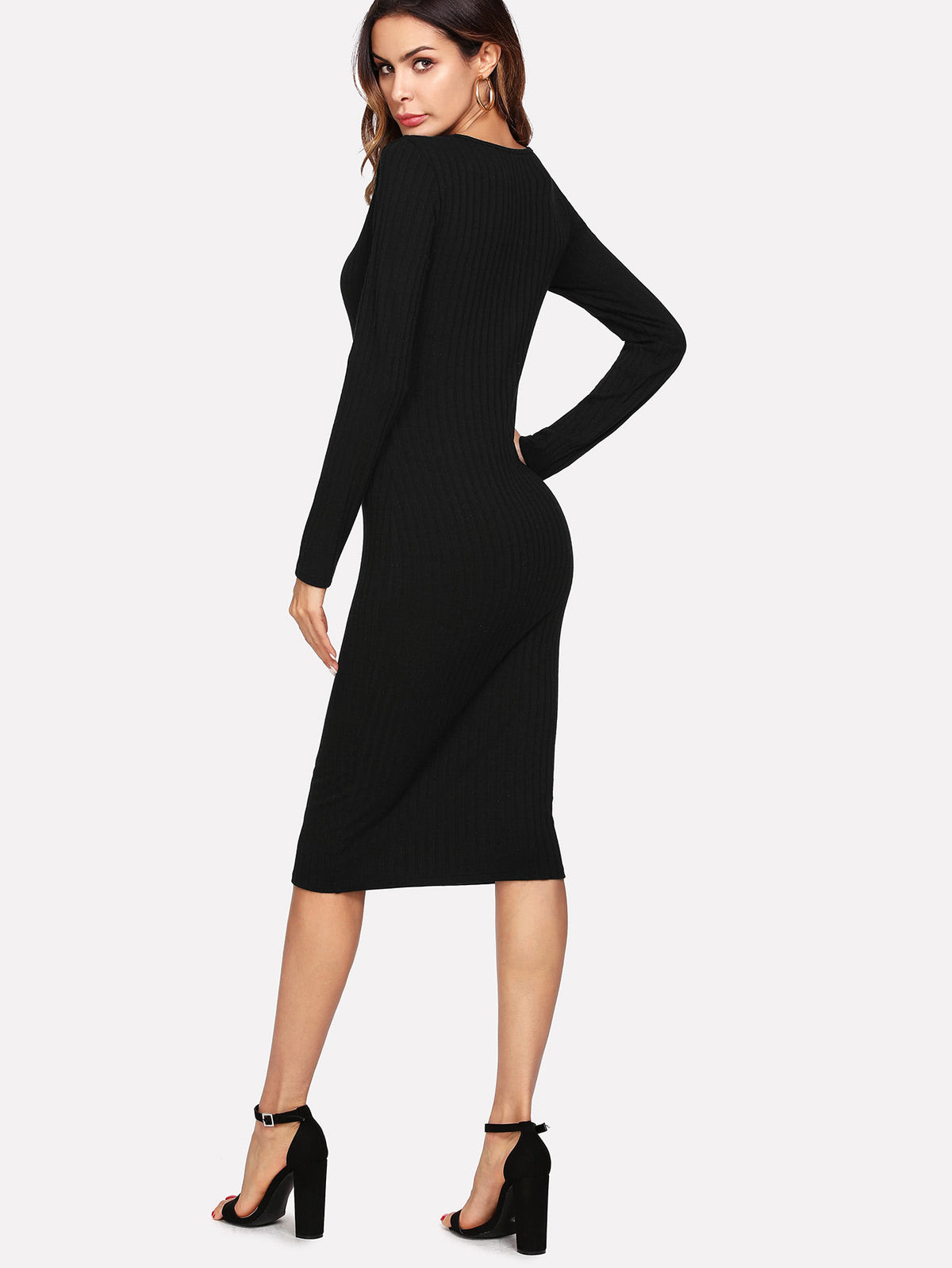 Solid Slim Fit Dress