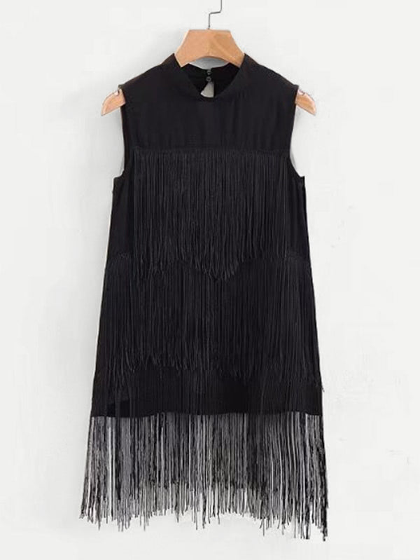 Tiered Fringe Hem Tank Top
