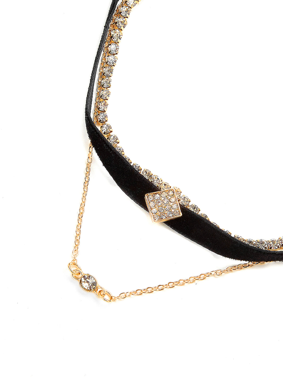Rhinestone Decorated Choker Set