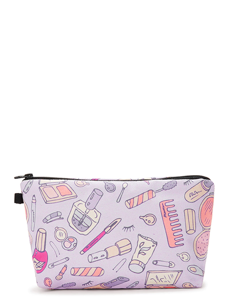 Cosmetic Tool Print Makeup Bag
