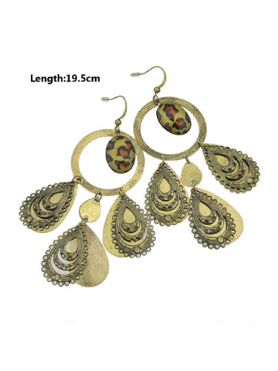 Delicate Graceful Vivid Leopard Earrings