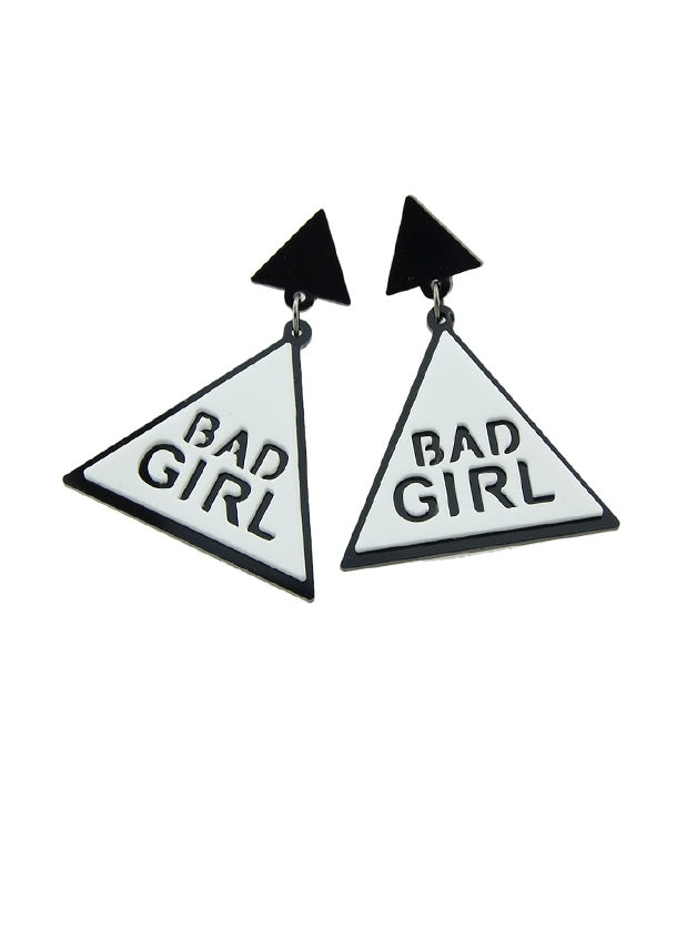 Bad Girl Letter Large Women Earring