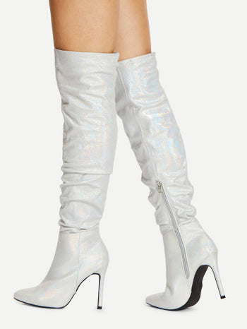 Stiletto Thigh High Boots