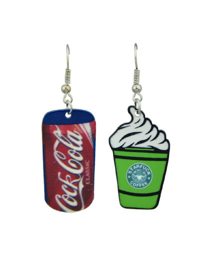Coke Ice Cream Creative Earrings