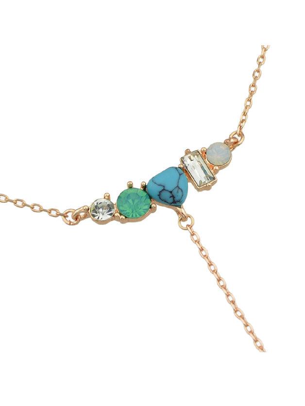 Turquoise Rivets Pendant Necklace