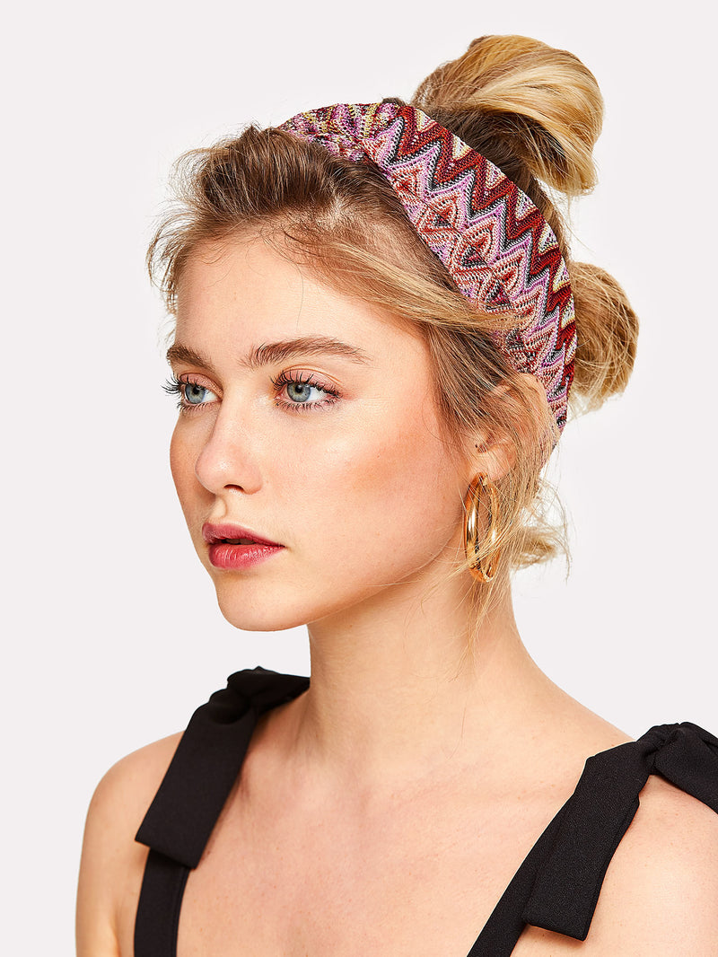Colorful Pointelle Headband