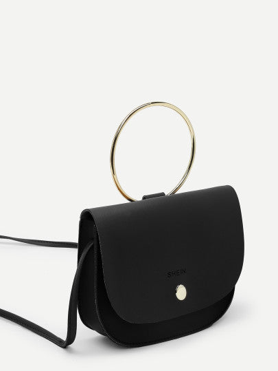 Saddle Crossbody Bag With Ring Handle