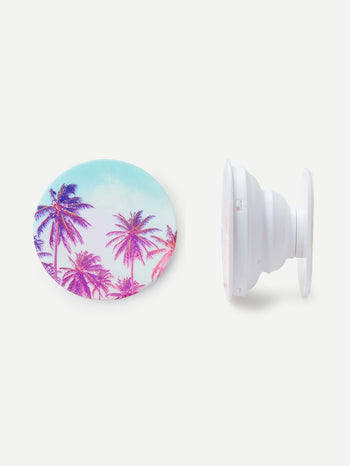 Palm Tree Pattern Portable Phone Holder