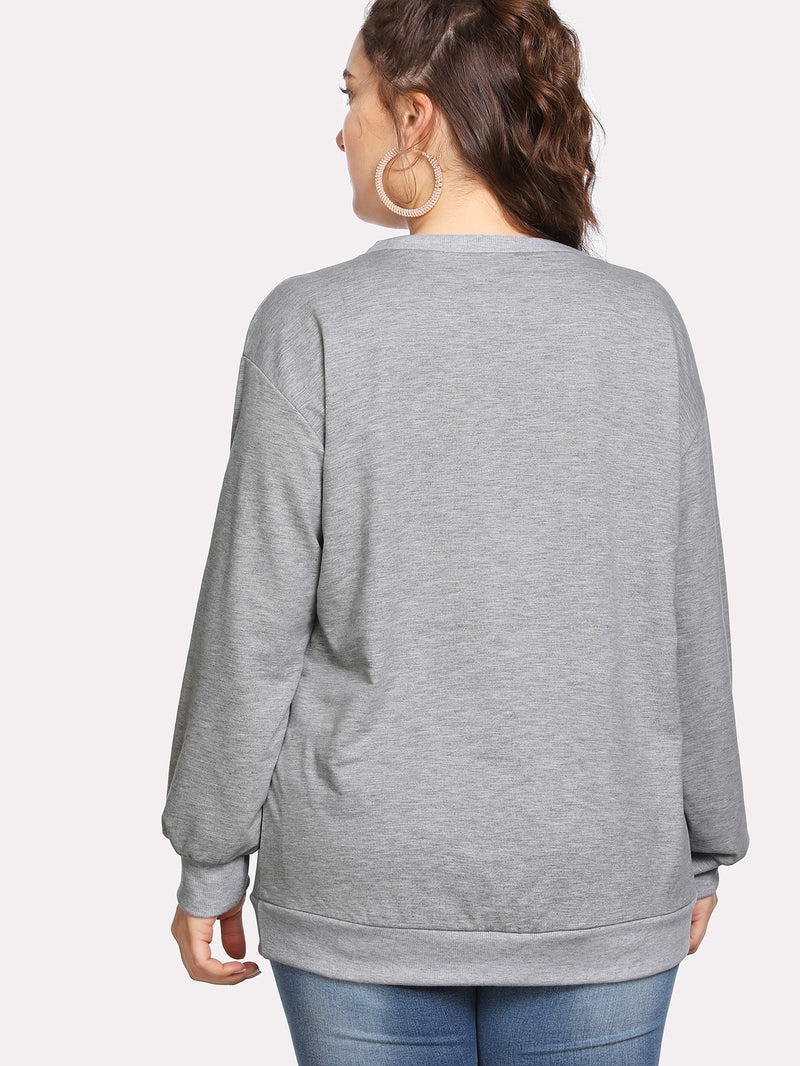 Drop Shoulder ART Print Pullover