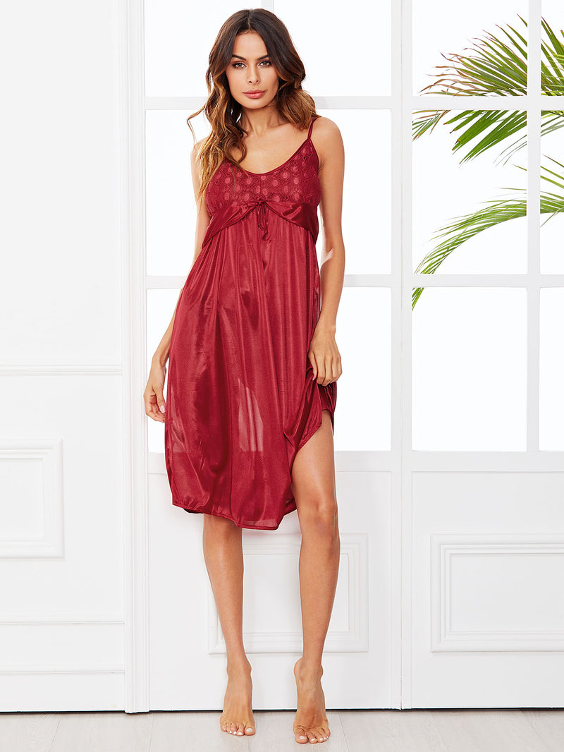 Lace Panel Cami Dress
