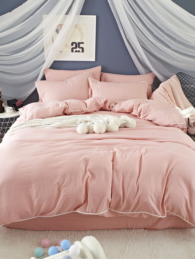 Contrast Trim Duvet Cover Set