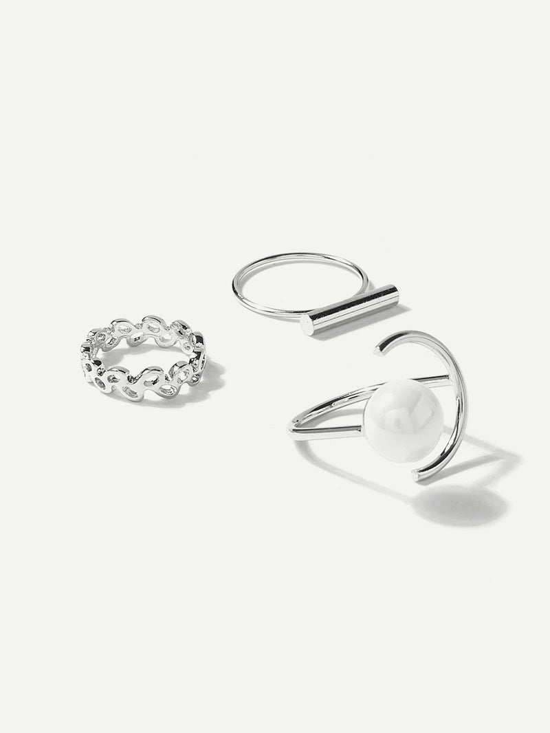 Bar Top Skinny Ring Pack 3pcs