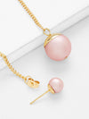 Faux Pearl Design Drop Earrings