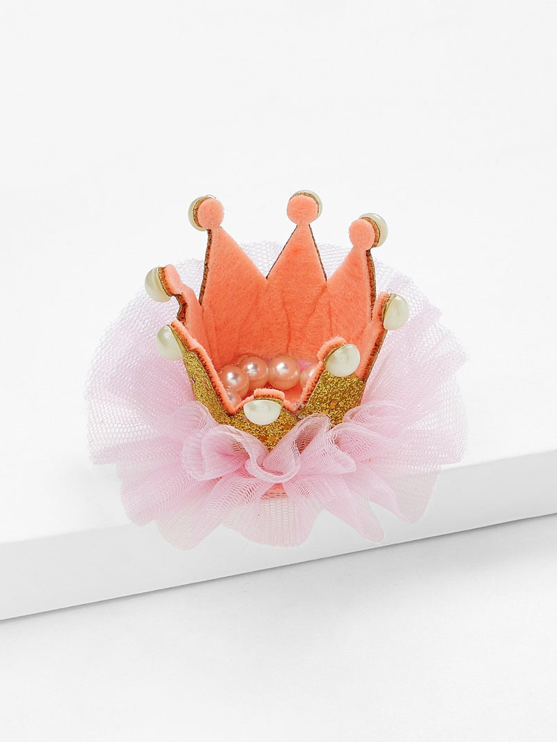 Crown Design Kids Hair Clip Set 2Pcs