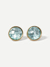 Gemstone Clip On Stud Earrings