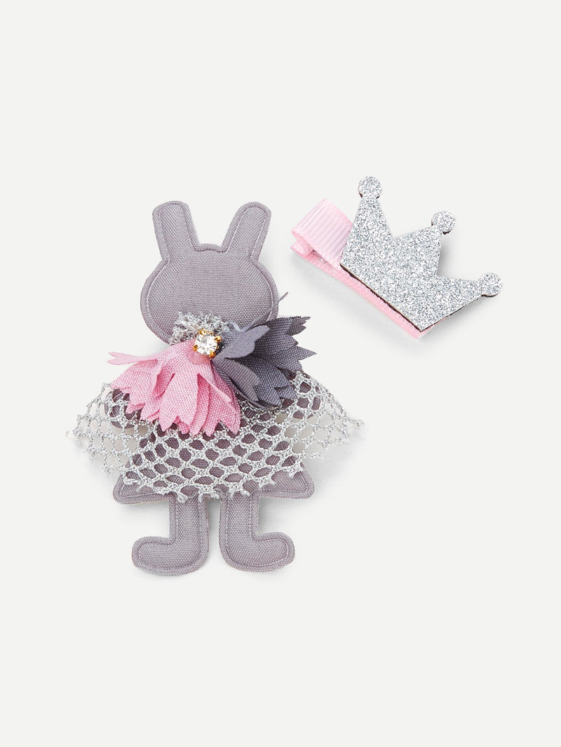 Rabbit Shaped Hair Clip 2pcs