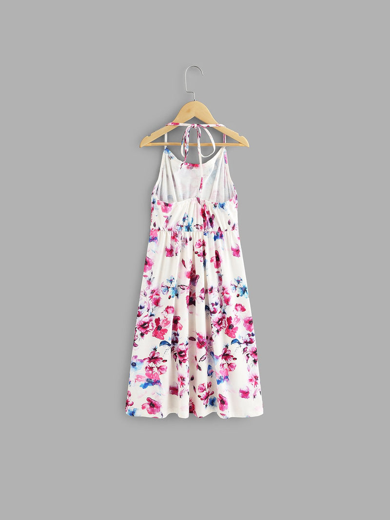 Kids All Over Floral Print Halter Dress