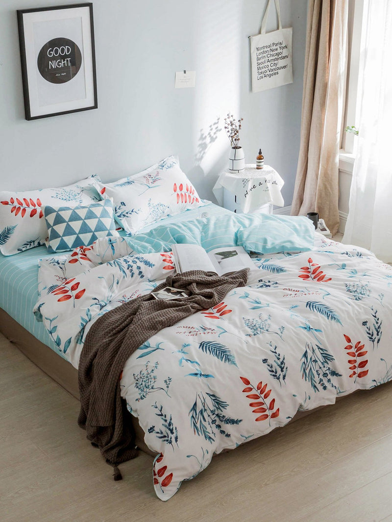 Allover Plant Print Sheet Set