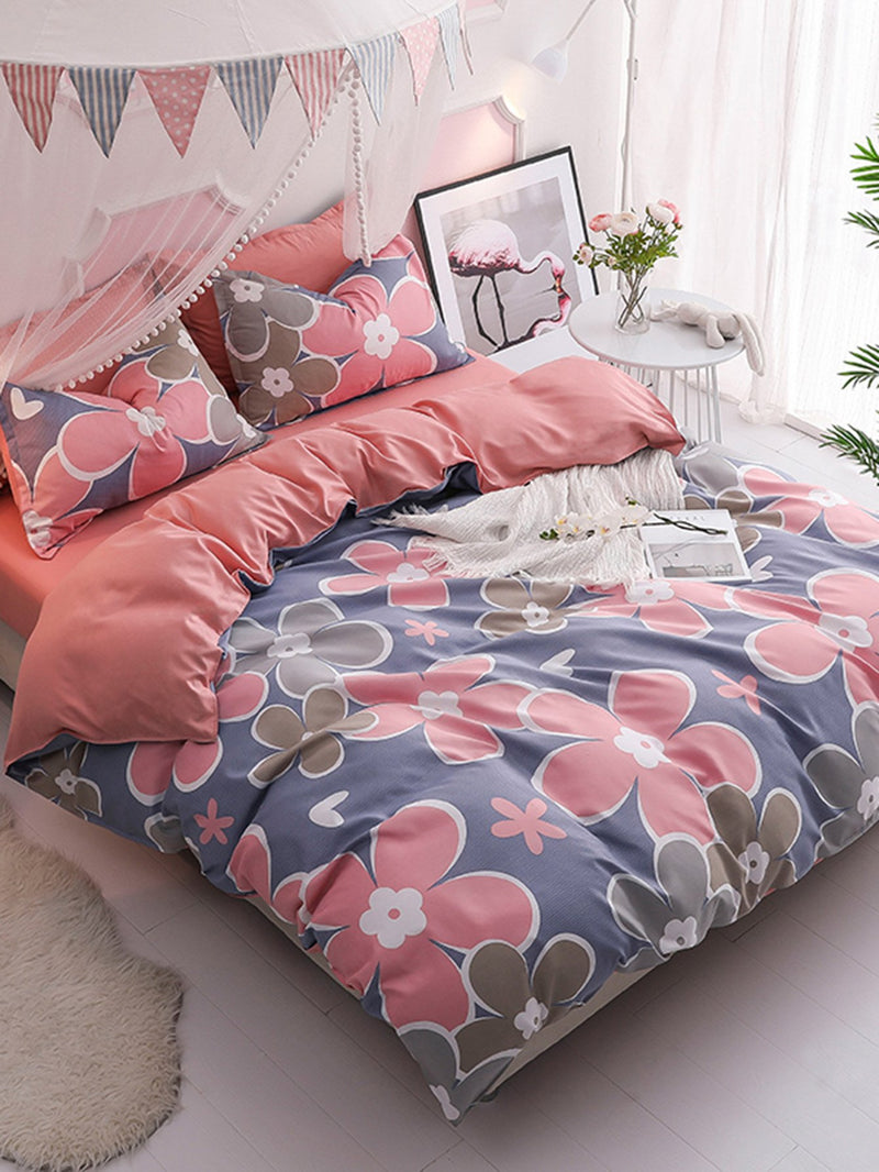 Allover Flower Print Sheet Set