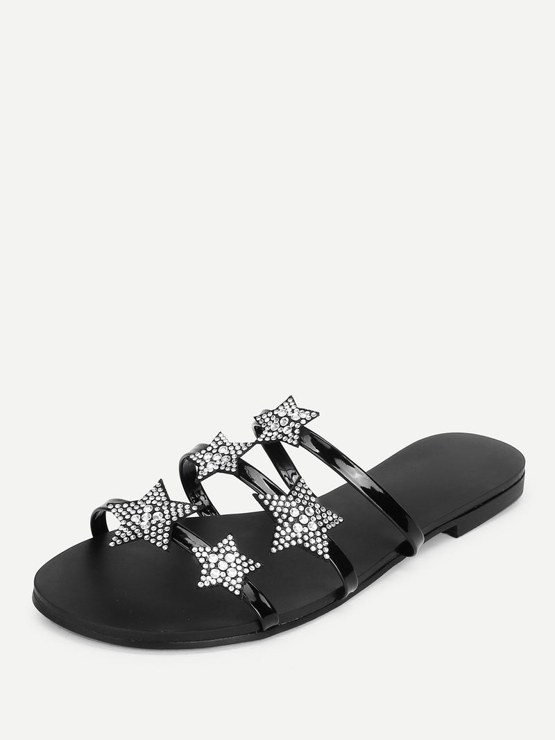 Star Decorated Flat Sandals