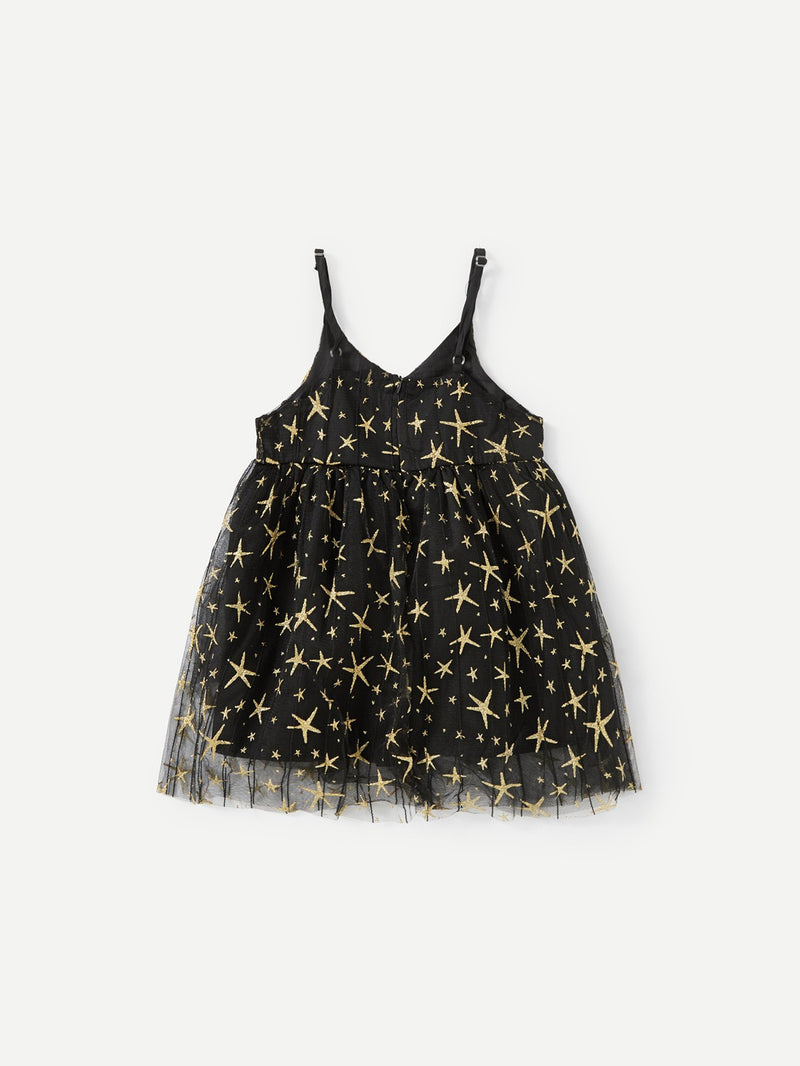 Star Mesh Cami Dress