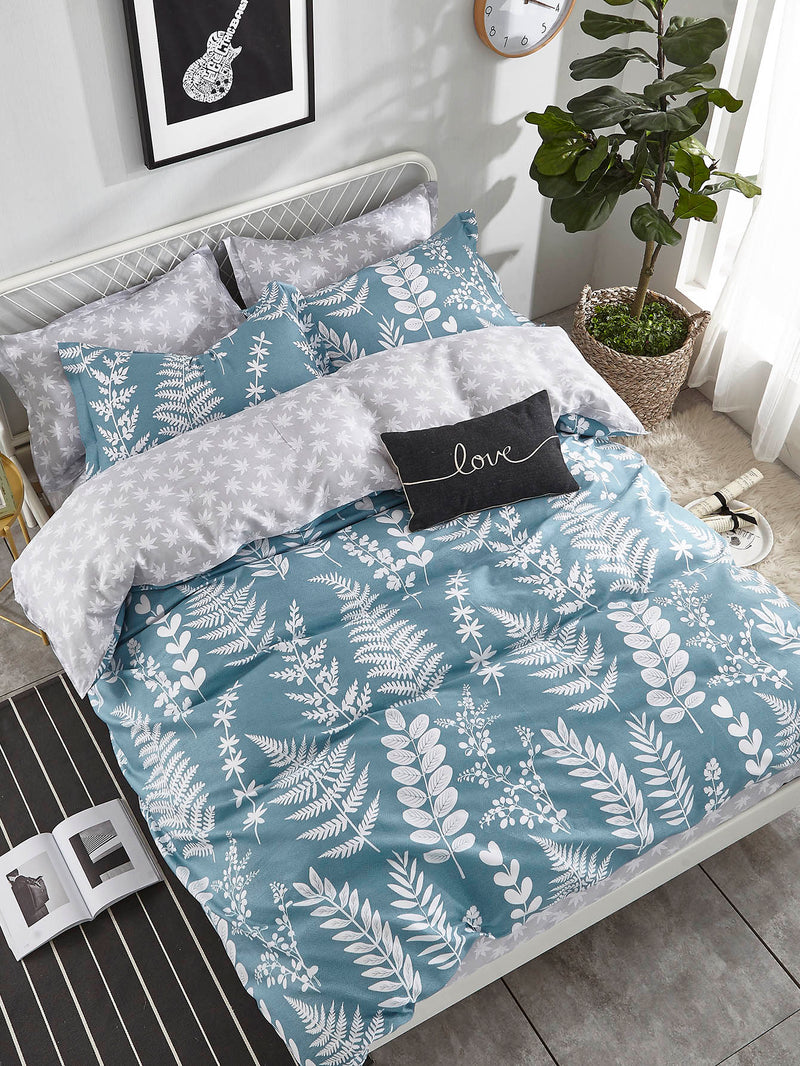 Allover Leaf Duvet Cover Set