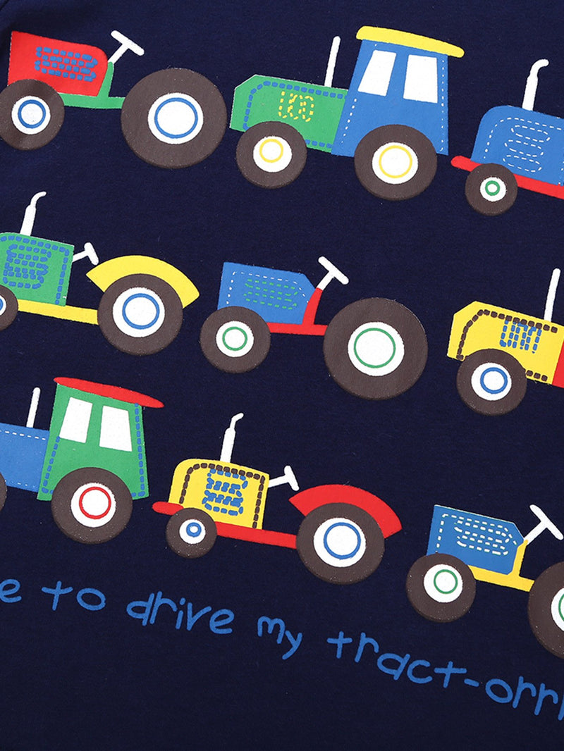 Kids Cartoon Cars Print Tee
