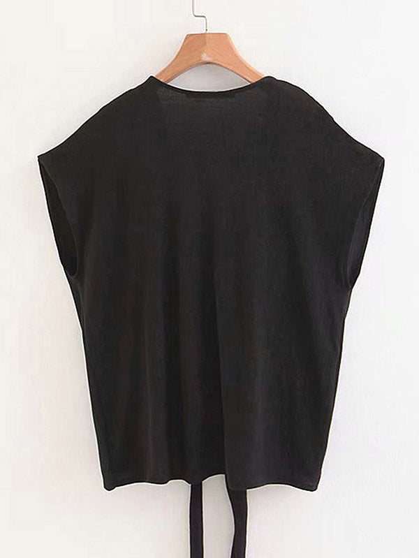 Knotted Front Solid Tee