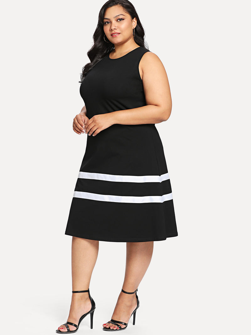Stripe Contrast Tank Dress