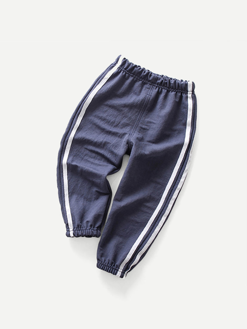 Kids Tape Detail Elastic Foot Pants