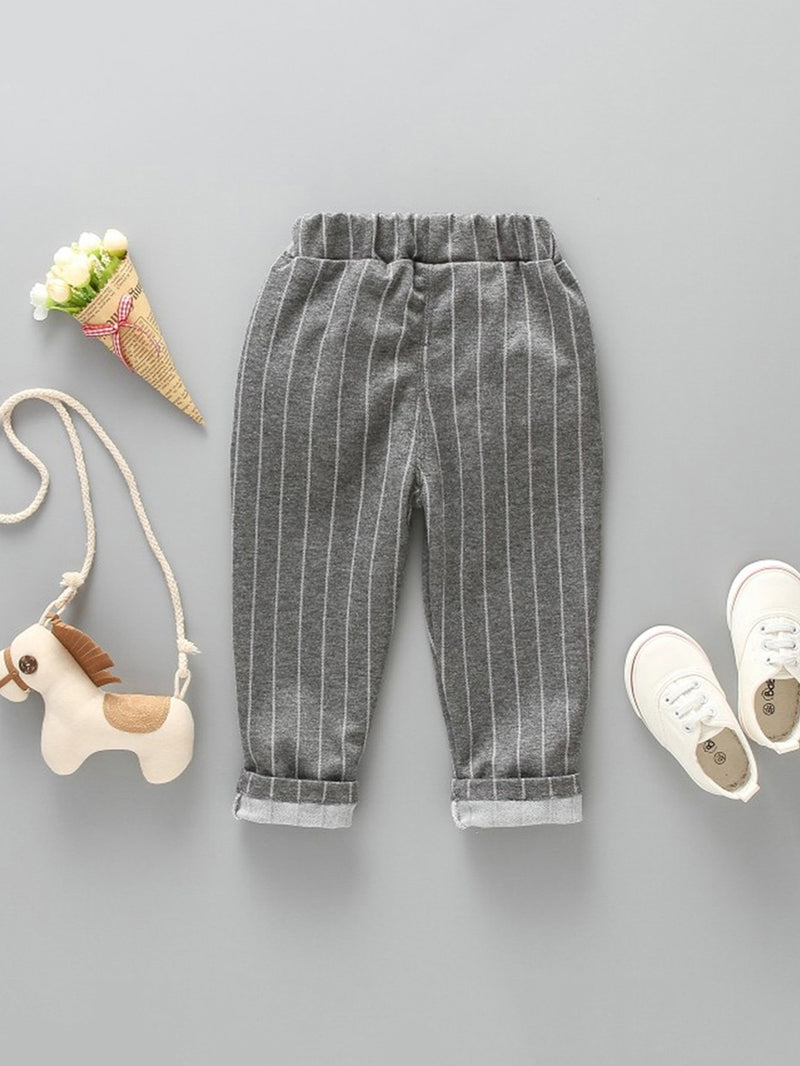 Kids Striped Rolled Hem Pants