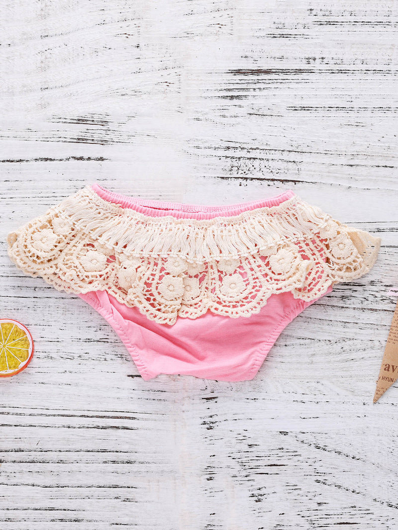 Kids Contrast Lace Shorts