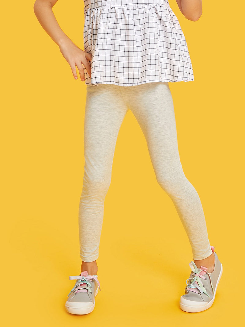 Elastic Waist Heather Knit Leggings