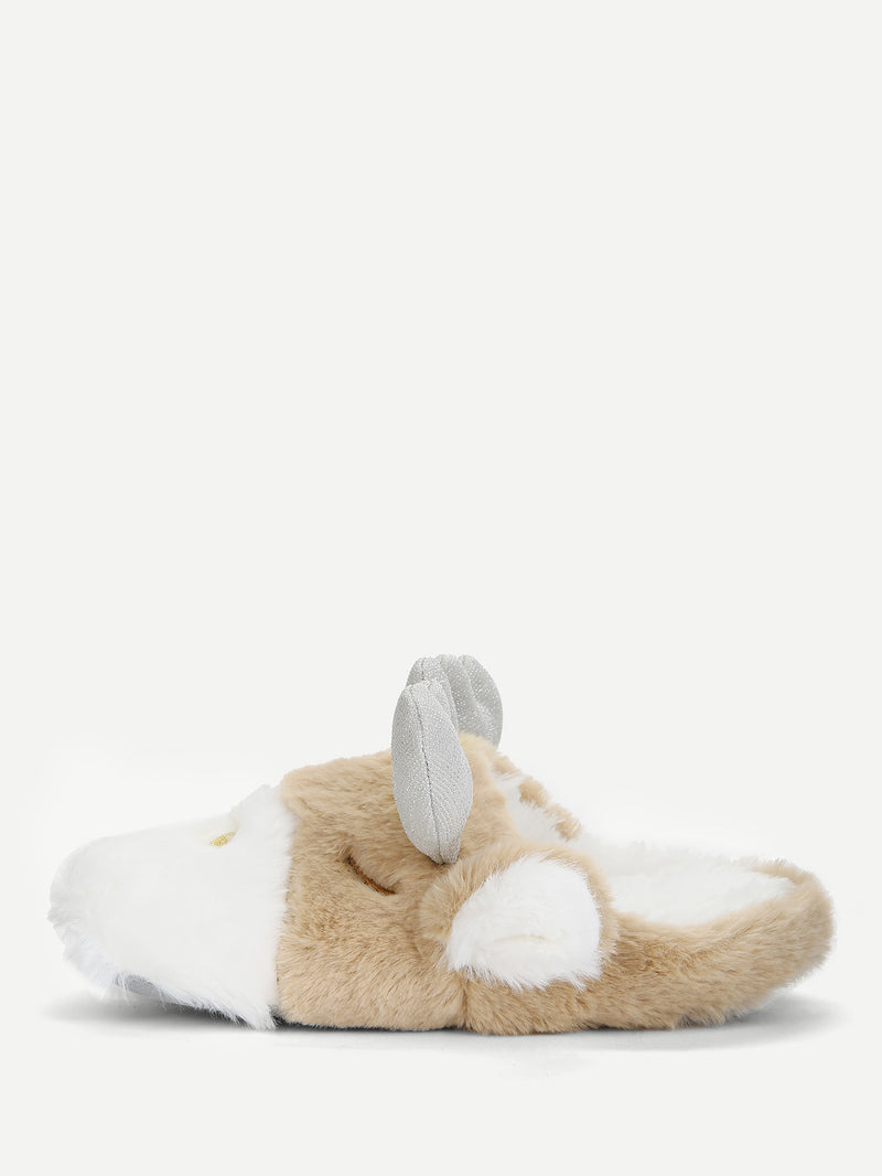 Cartoon Design Two Tone Flat Slippers
