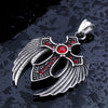 Winged Cross Stone Pendant