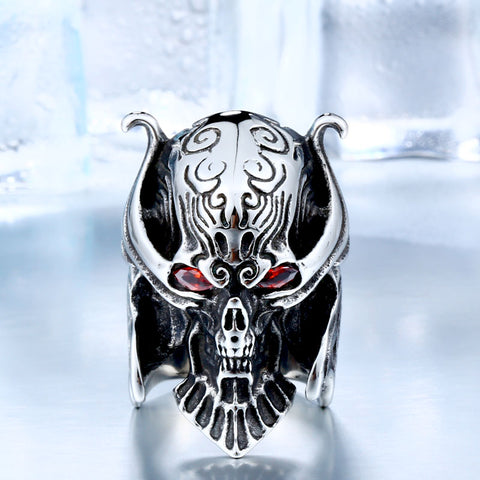 War Skull Head Ring