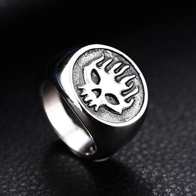 Fire Man Skull Ring