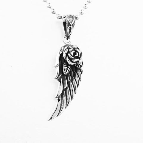 Feather Flower Pendant