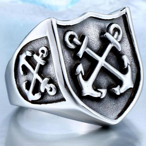 Anchors Biker Ring