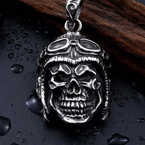 Motorcycle Biker Skull Necklace